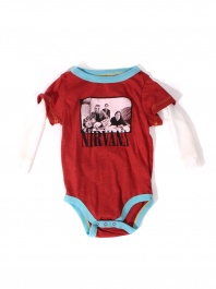Rowdy Sprouts Nirvana onesie, $38