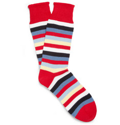 Corgi striped socks, $30