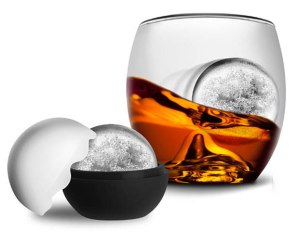 On The Rocks glass and ice mold set, $25