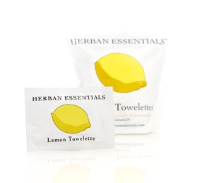 Herban Essentials lemon towelettes, $16 for 20