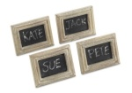 White Wash Chalkboard Place Card Holders