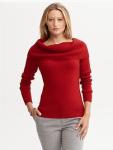 Draped Cowl Neck Sweater