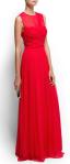 Draped Long Silk Dress