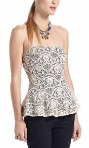 Sweetheart Lace Peplum Top