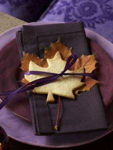 Edible Maple Leaf Napkin Holders